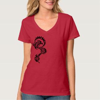 Fahrradtätowierungs-Shirt für sie im Rot Tshirts