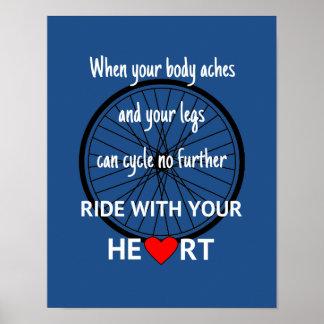 Fahrt mit Ihrem Herzen inspirierend Poster