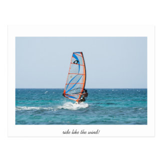 Fahrt wie der Wind Postkarte