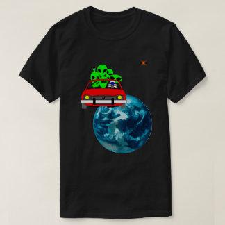 Fahrt zu Mars selfie lustigem einzigartigem T-Shirt