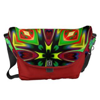 Fahrwerk. Bote-Tasche im Kaleidoskop-Entwurf Kurier Taschen