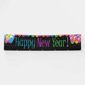 Fahrwerk-guten Rutsch ins Neue Jahr-Fahne Banner