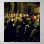 Faire bon accueil à St Bonaventure dans le francis Affiche