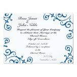 Faire-part de mariage (bleu) d'ivoire de Cirrus Carton D'invitation 12,7 Cm X 17,78 Cm