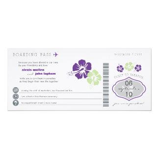 Faire-part de mariage de carte d'embarquement carton d'invitation  10,16 cm x 23,49 cm