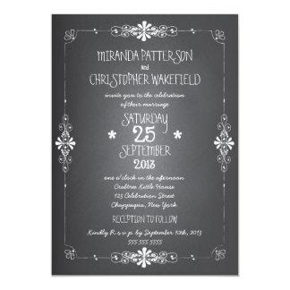 Faire-part de mariage de pot de maçon de tableau carton d'invitation  12,7 cm x 17,78 cm