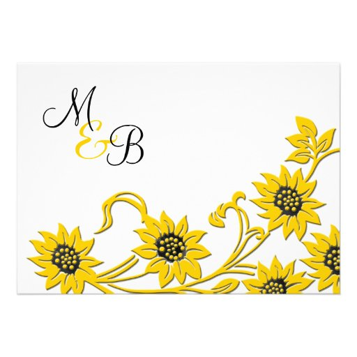 Faire-part de mariage décoré d'un monogramme de to