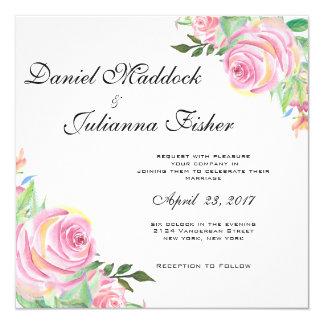 Faire-part de mariage floral d'aquarelle