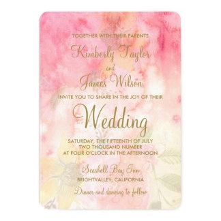 Faire-part de mariage formel rose floral