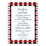 Faire-part de mariage (rouge) de l'ivoire XI Carton D'invitation 12,7 Cm X 17,78 Cm