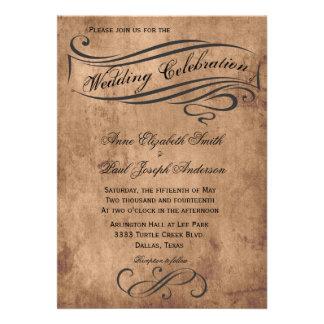 Faire-part de mariage vintage rustique
