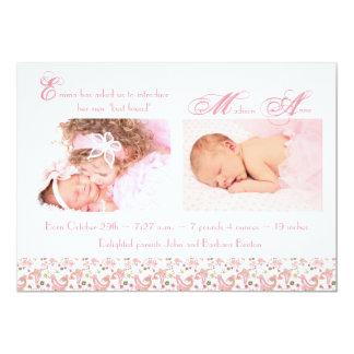 Faire-part de naissance de fille d'ange de sommeil