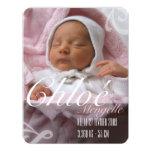 Faire-part de naissance - Fille Carton D'invitation 10,79 Cm X 13,97 Cm