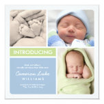 Faire-part de naissance multiple | de photo