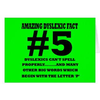 Fait dyslexique offensif carte de vœux