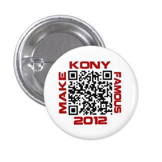 Faites à Kony le code visuel célèbre Joseph Kony Badge Rond 2,50 Cm