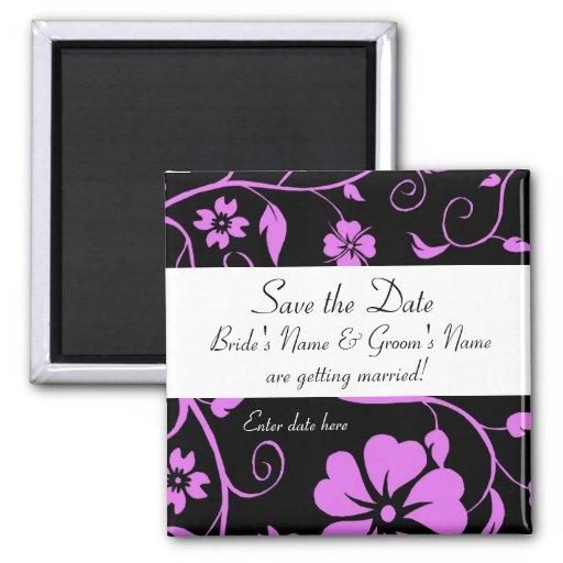 Faites gagner la date - aimant floral de mariage