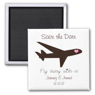 Faites gagner la date : Avion Magnet Carré