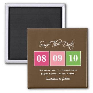 Faites gagner la date Blocs de date - vert de fu Magnets Pour Réfrigérateur