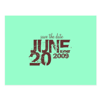 Faites gagner la date JUIN - customisé Cartes Postales