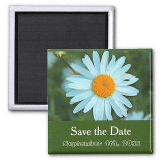 faites gagner la date, vert pur de fleur de magnet carré