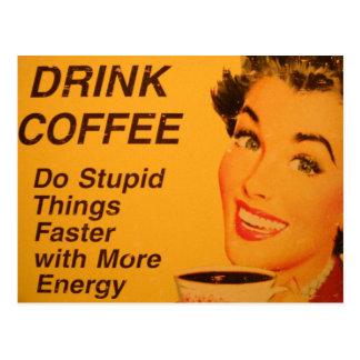 Faites une annonce vintage plus rapide de café de cartes postales