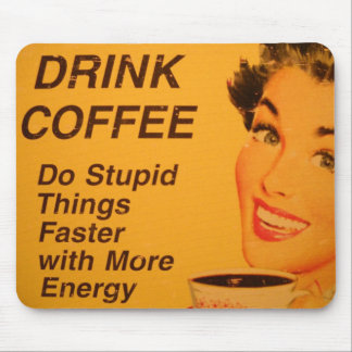 Faites une annonce vintage plus rapide de café de tapis de souris
