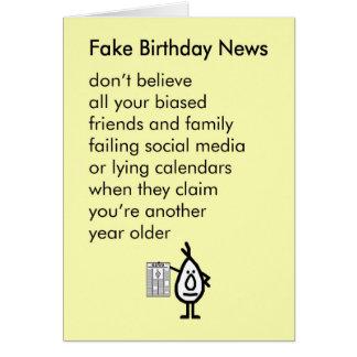 Fake-Geburtstags-Nachrichten - ein lustiges alles Karte