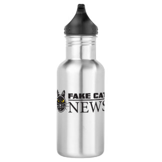 Fake-Katzen-Nachrichten-Wasser-Flasche Edelstahlflasche