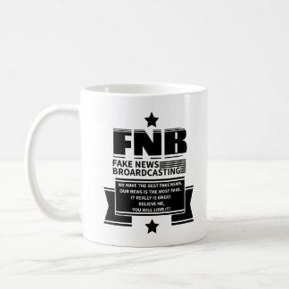 Fake-Nachrichten Kaffeetasse