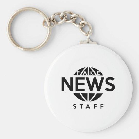 Fake-Nachrichten-Personal Standard Runder Schlüsselanhänger
