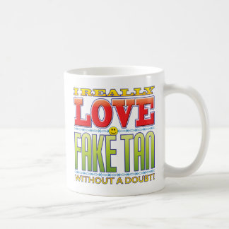 Fake-TAN-Liebe-Gesicht Kaffeetasse