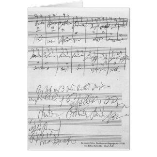Faksimile einer Seite von Musik Grußkarten