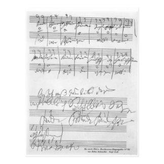 Faksimile einer Seite von Musik Postkarte