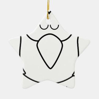 Falke #2 keramik Stern-Ornament