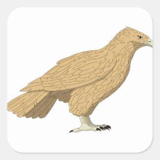 Falke #2 quadratischer aufkleber