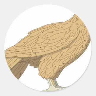 Falke #2 runder aufkleber