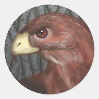 Falke-Aufkleber Runder Aufkleber