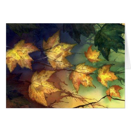 Fall-Ahorn-Blätter Grußkarte
