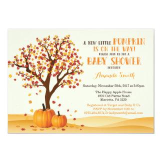 Fall-Baby-Duschen-Einladungs-Karten-Bäume und Karte