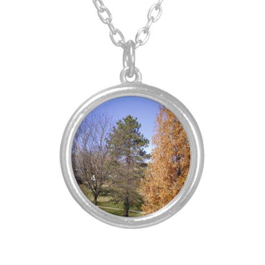 Fall-Bäume Halskette Mit Rundem Anhänger