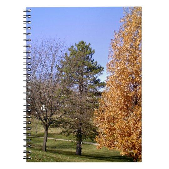 Fall-Bäume Spiral Notizblock