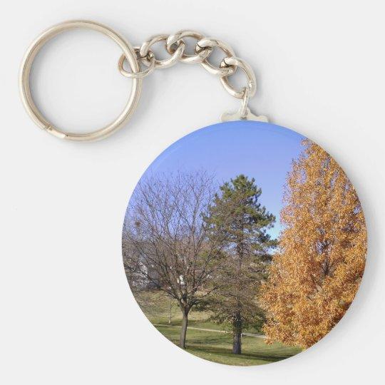 Fall-Bäume Standard Runder Schlüsselanhänger