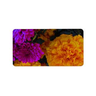 Fall-Blumen Adressaufkleber