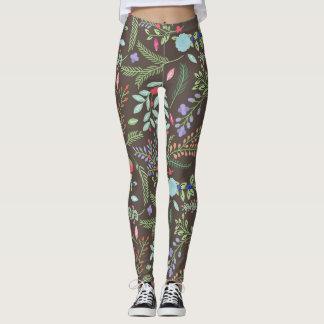 Fall-Blumengamaschen Leggings