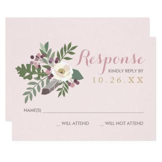 Fall Boho der Hochzeits-Wartekarten-| mit Blumen 8,9 X 12,7 Cm Einladungskarte