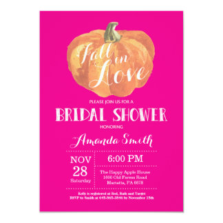 Fall-Brautparty-Einladungs-Karten-heißes Rosa Karte
