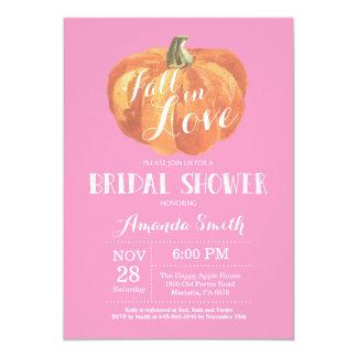 Fall-Brautparty-Einladungs-Karten-Rosa Karte