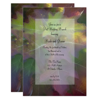 Fall-Eichen-Blatthydrangea-Posten-Hochzeits-Brunch 12,7 X 17,8 Cm Einladungskarte