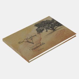 Fall-Eichen-Schnur beleuchtet Hochzeits-Gast-Buch Gästebuch